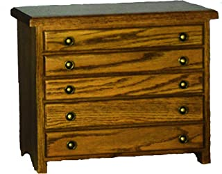 product image for Oak 5 Drawer Jewelry Chest - Amish Made in USA