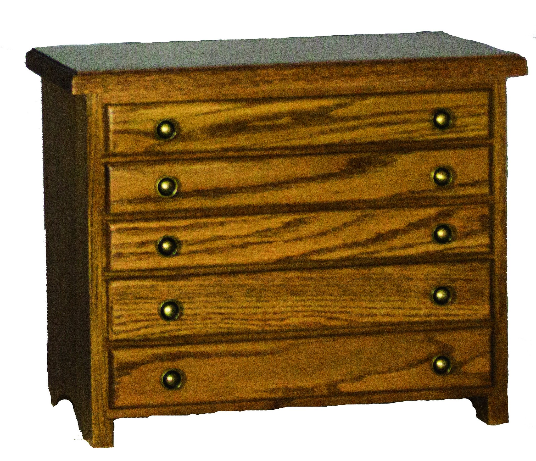 Oak 5 Drawer Jewelry Chest - Amish Made in USA by Furniture Barn USA