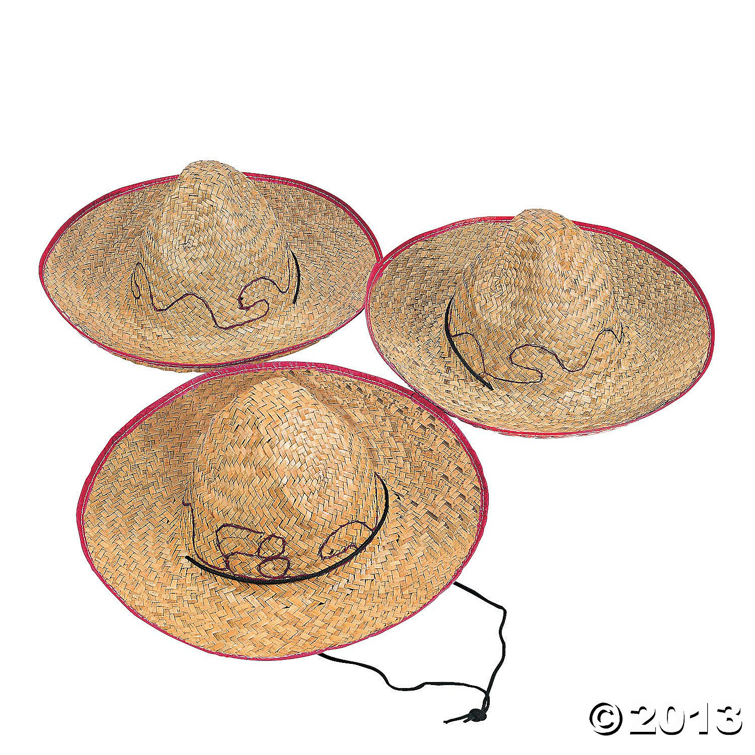 Oriental Trading Company IN-15-203 1 dz Child Embroidered Sombrero Hats