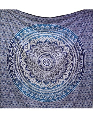 raajsee Original Brillantes Brillante Ombre Indio Tapiz Mandala Pared Hanging-Beach Manta Hippy Boho Colcha
