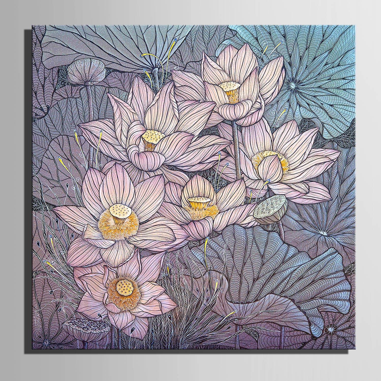 LTQ&QING new- pinturas decorativas elegantes de loto, pinturas sin marco, decorativa el hogar pintura decorativa marco, de la sala de estar, 60601 a5248f
