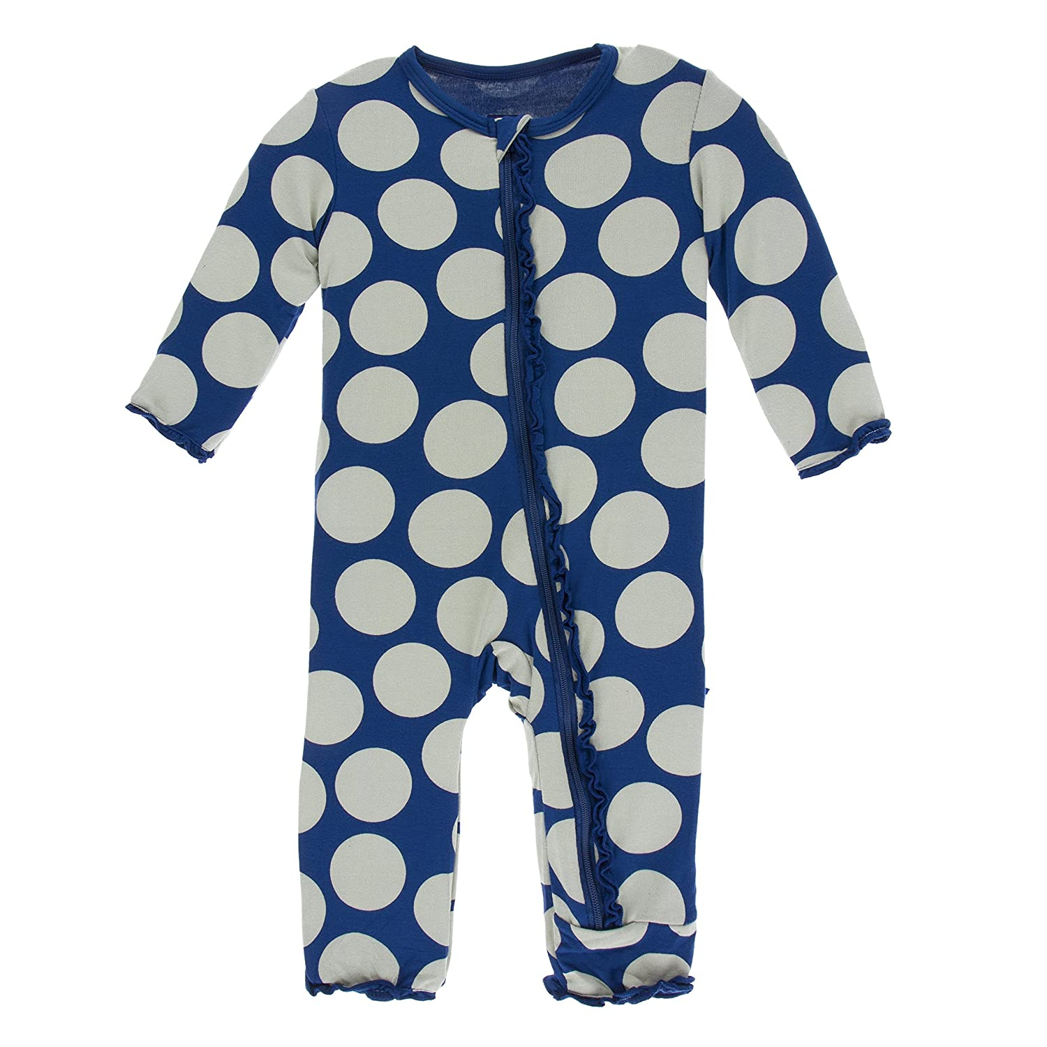 fc1beb9e1 Amazon.com  Kickee Pants Print Muffin Ruffle Coverall with Zipper ...