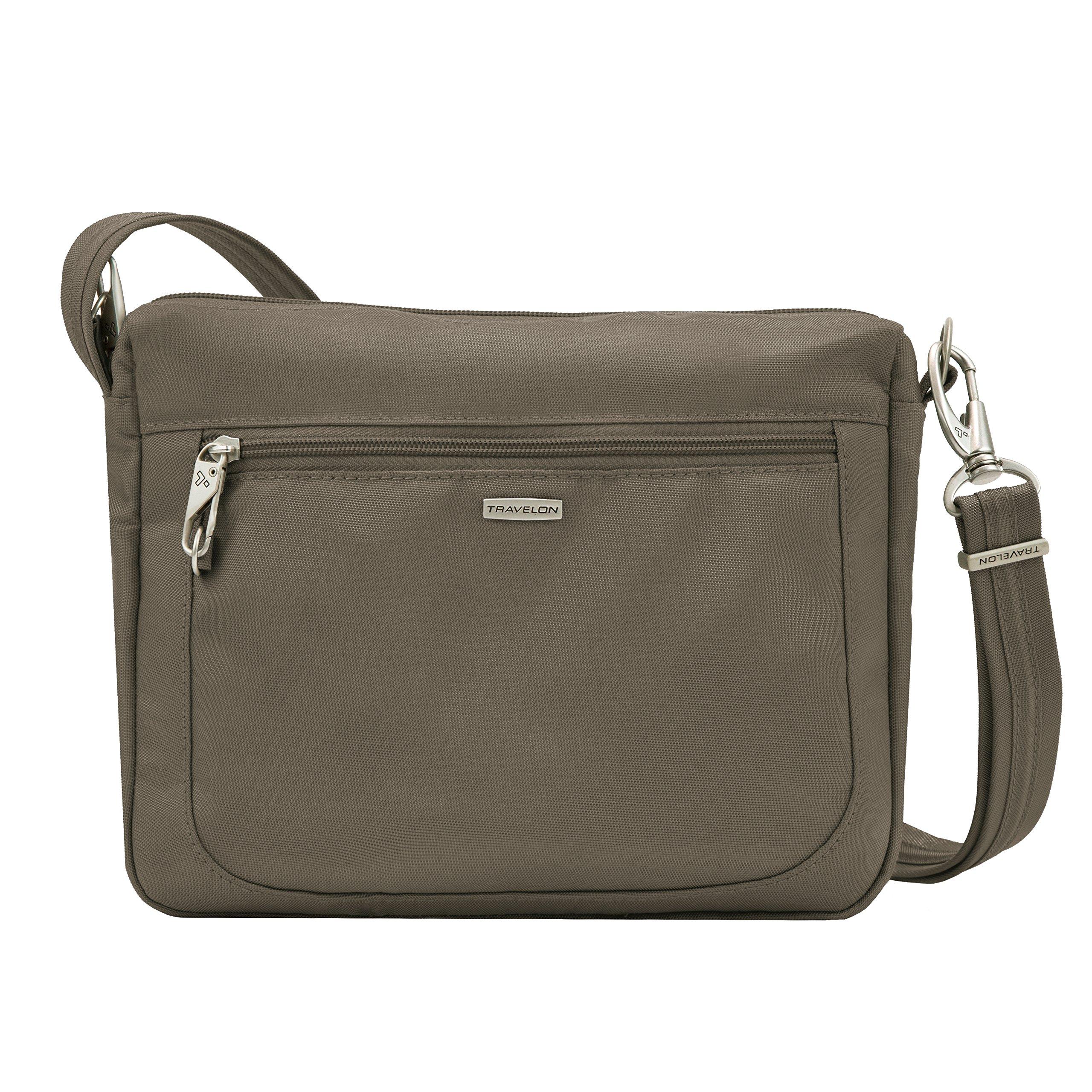 Travelon Anti-theft Classic Small E/W Cross Body Bag, Nutmeg