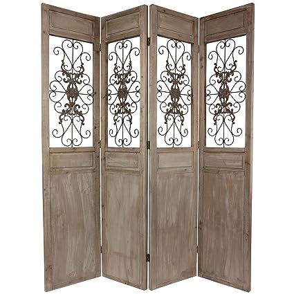 Amazoncom Oriental Furniture 7 ft Tall Railing Scrolls Room