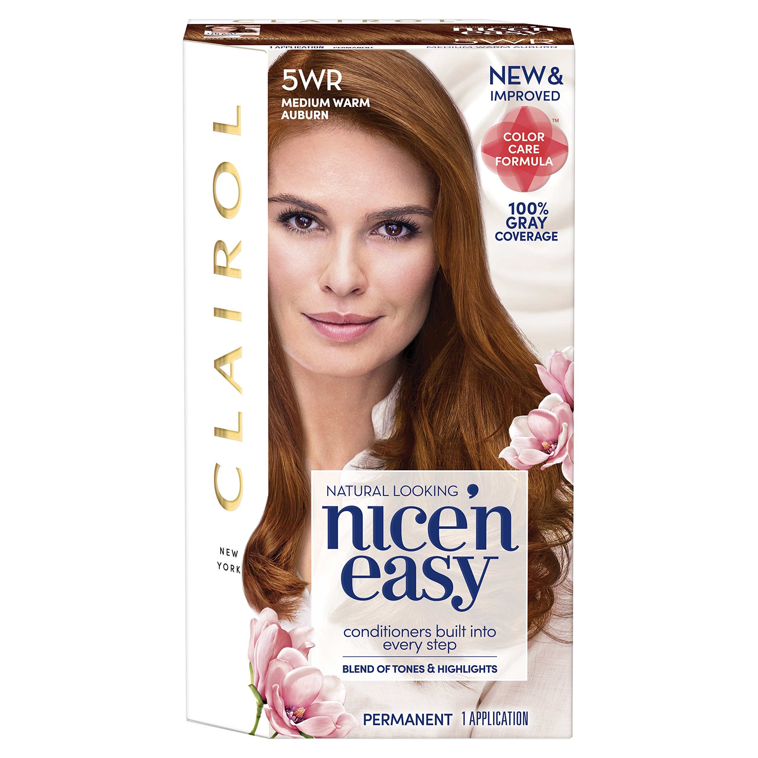 Clairol Nice'n Easy Permanent Hair Color, 5WR Medium Warm Auburn, 1 Count