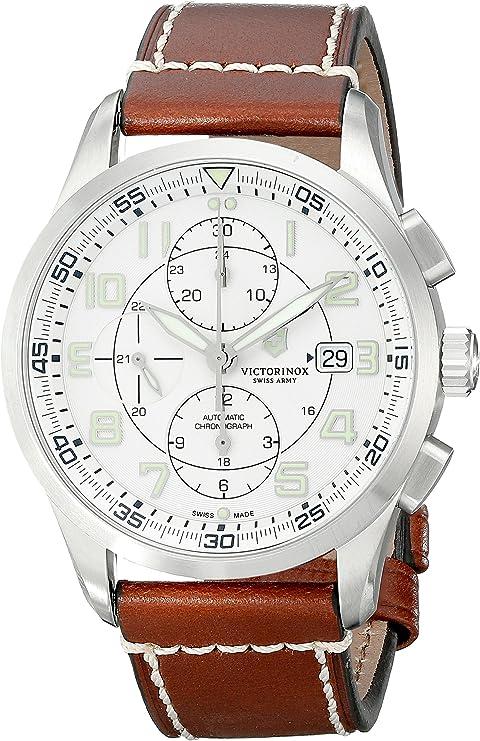 Amazon.com: Victorinox 241598 AirBoss Reloj suizo automático para hombre, con pantalla analógica, color marrón: Watches