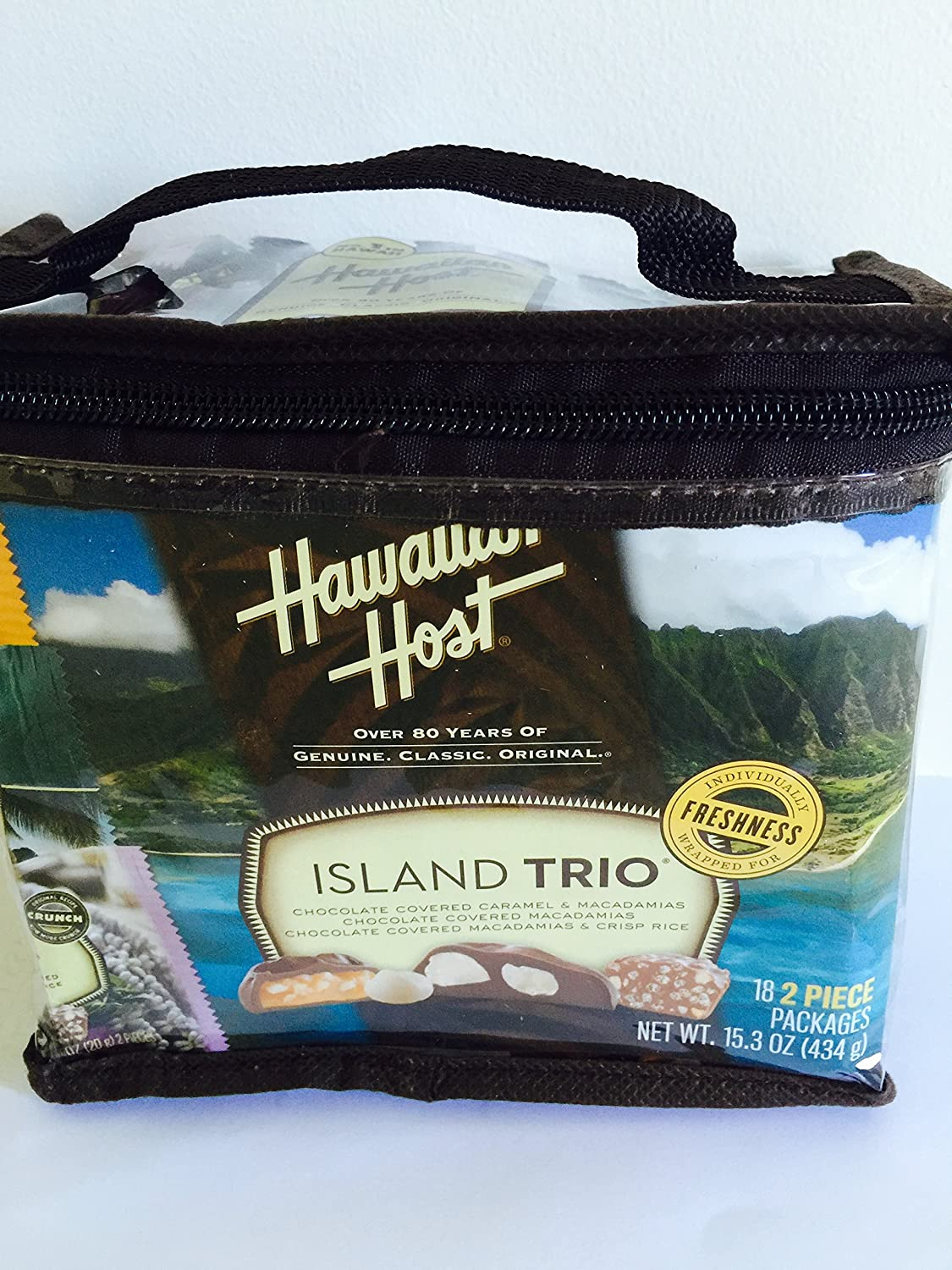 Hawaiian Host Island Trio Gift Pack 18 Count Chocolate and Macadamia