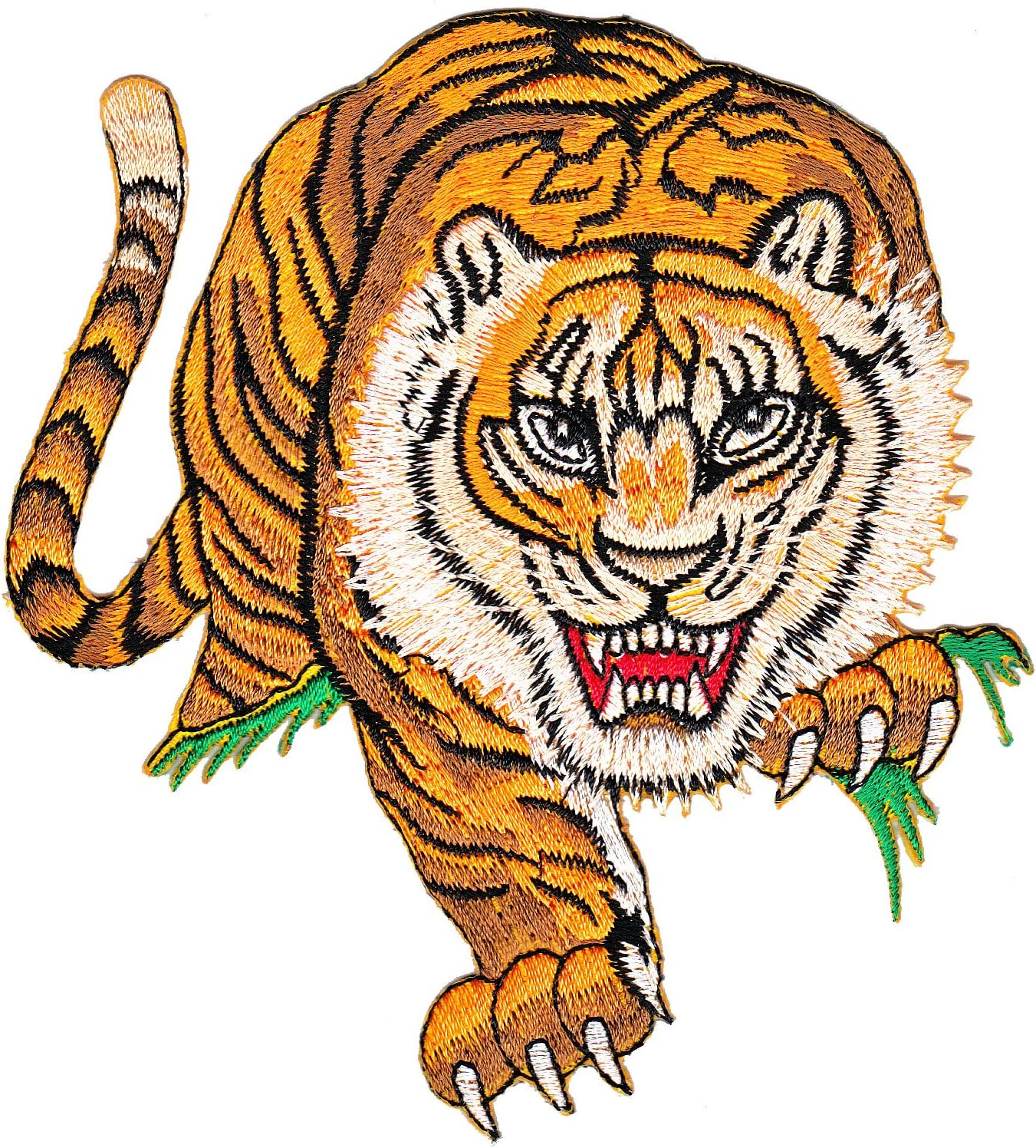 Tiger parche con plancha Patch applikation grande: Amazon.es: Hogar