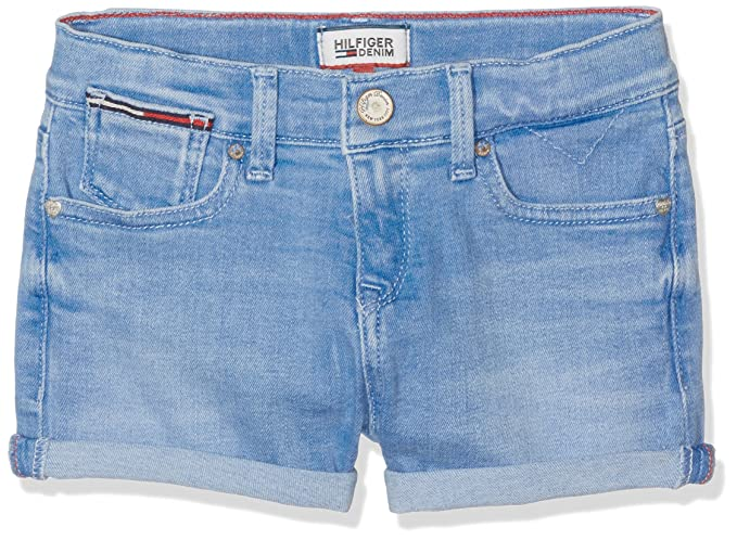 94b2771fc7 Tommy Hilfiger Girl's Girlfriend Denim Short IGPSTR, Blue (Indiglow Power  Stretch 911), 152 cm (12 Years): Amazon.co.uk: Clothing