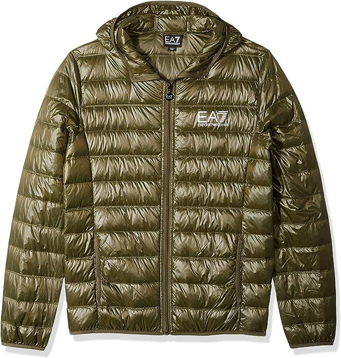 Emporio Armani 安普里奥·阿玛尼 EA7 轻薄可压缩 男式连帽羽绒服 XL码3.1折$76.73 海淘转运到手约¥565
