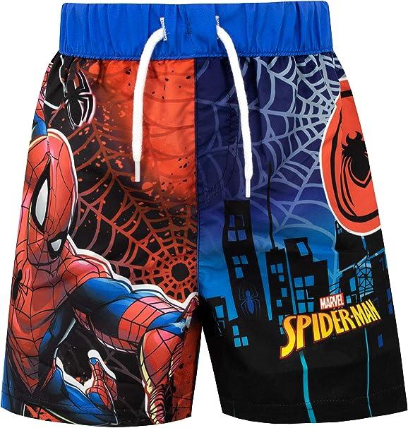 2-3-4-5-6 Anni Multicolor Costume da Bagno Boxer Mare Bambino Spiderman Marvel Avengers