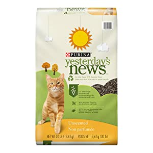 Purina Yesterday's News Non Clumping Paper Cat Litter; Unscented Low Tracking Cat Litter