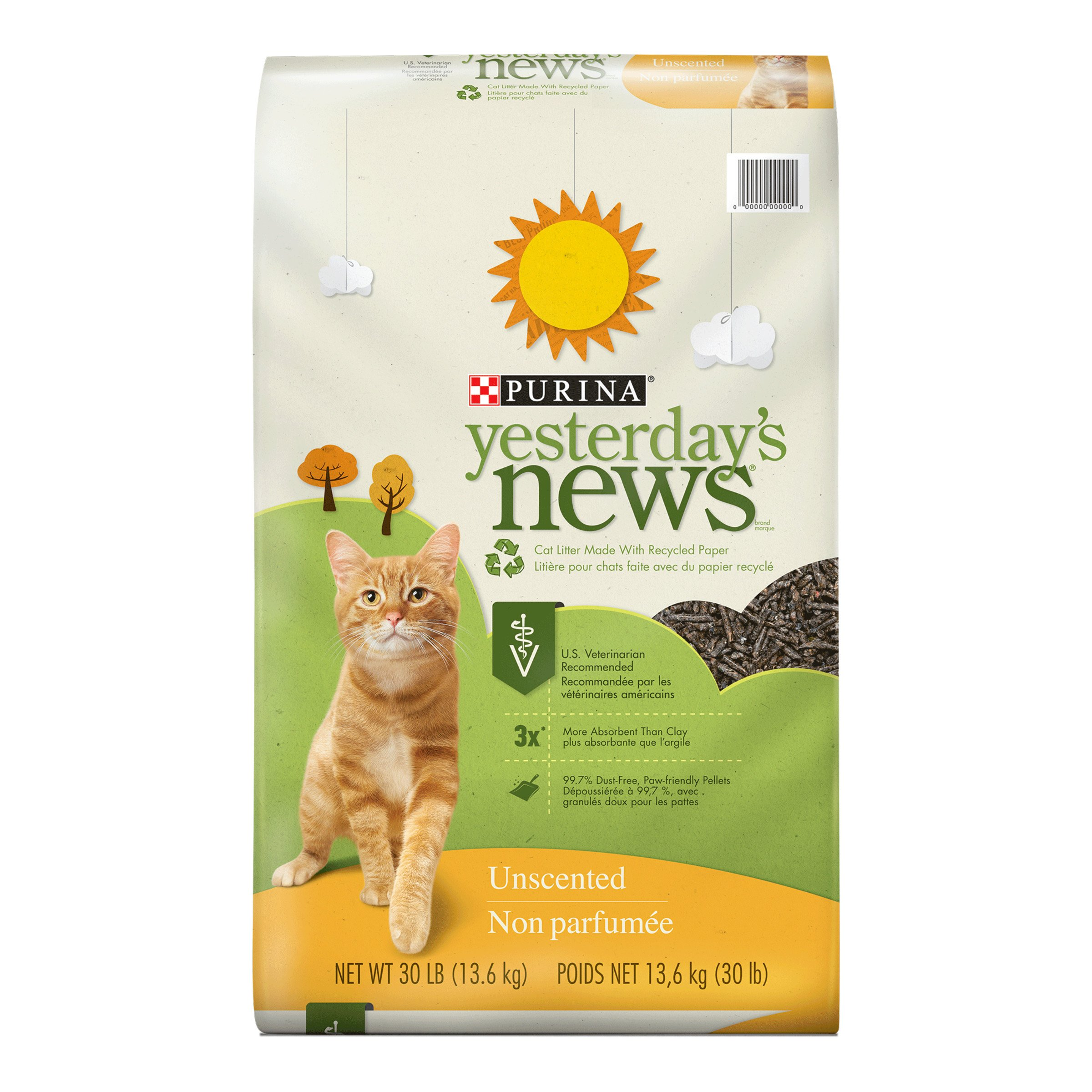 Purina Yesterday's News Unscented Cat Litter - 30 lb. Bag
