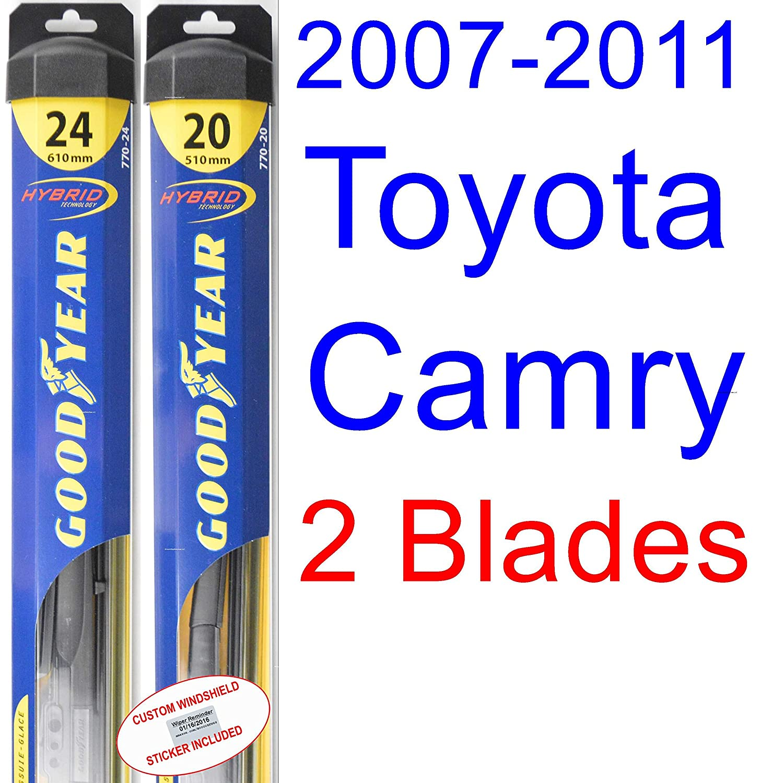 Amazon.com: 2007-2011 Toyota Camry Replacement Wiper Blade Set/Kit (Set of  2 Blades) (Goodyear Wiper Blades-Hybrid) (2008,2009,2010): Automotive