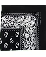 Novelty Bandanas Paisley Cotton Bandanas Single Pack