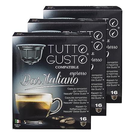 Gusto Italiano Tutto Espresso Bar, café, compatible con máquinas ...