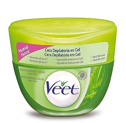 Veet Cera Depilatoria en Gel Aloe Vera Piel Seca - 250 ml: Amazon ...