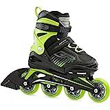 Bladerunner by Rollerblade Phoenix Boys Adjustable Fitness Inline Skate, Black and Green, Junior, Value Performance Inline Sk