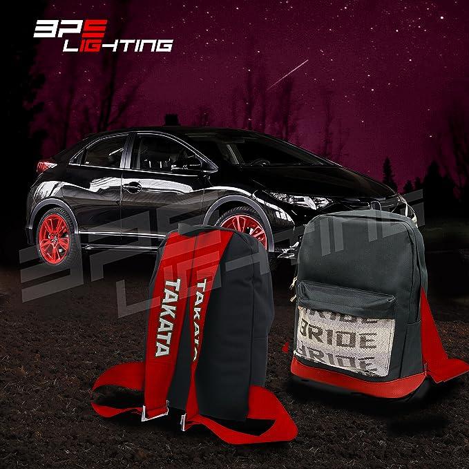 BPS iluminación JDM Bride Racing mochila rojo parte inferior con ...