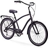 sixthreezero EVRYjourney Men's 26-Inch 7-Speed Hybrid Cruiser Bicycle, Matte Black