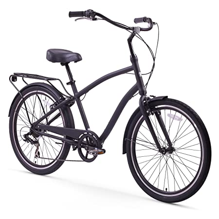 sixthreezero EVRYjourney Men's Hybrid Cruiser Bicycle, 26' Wheels/ 19' Frame