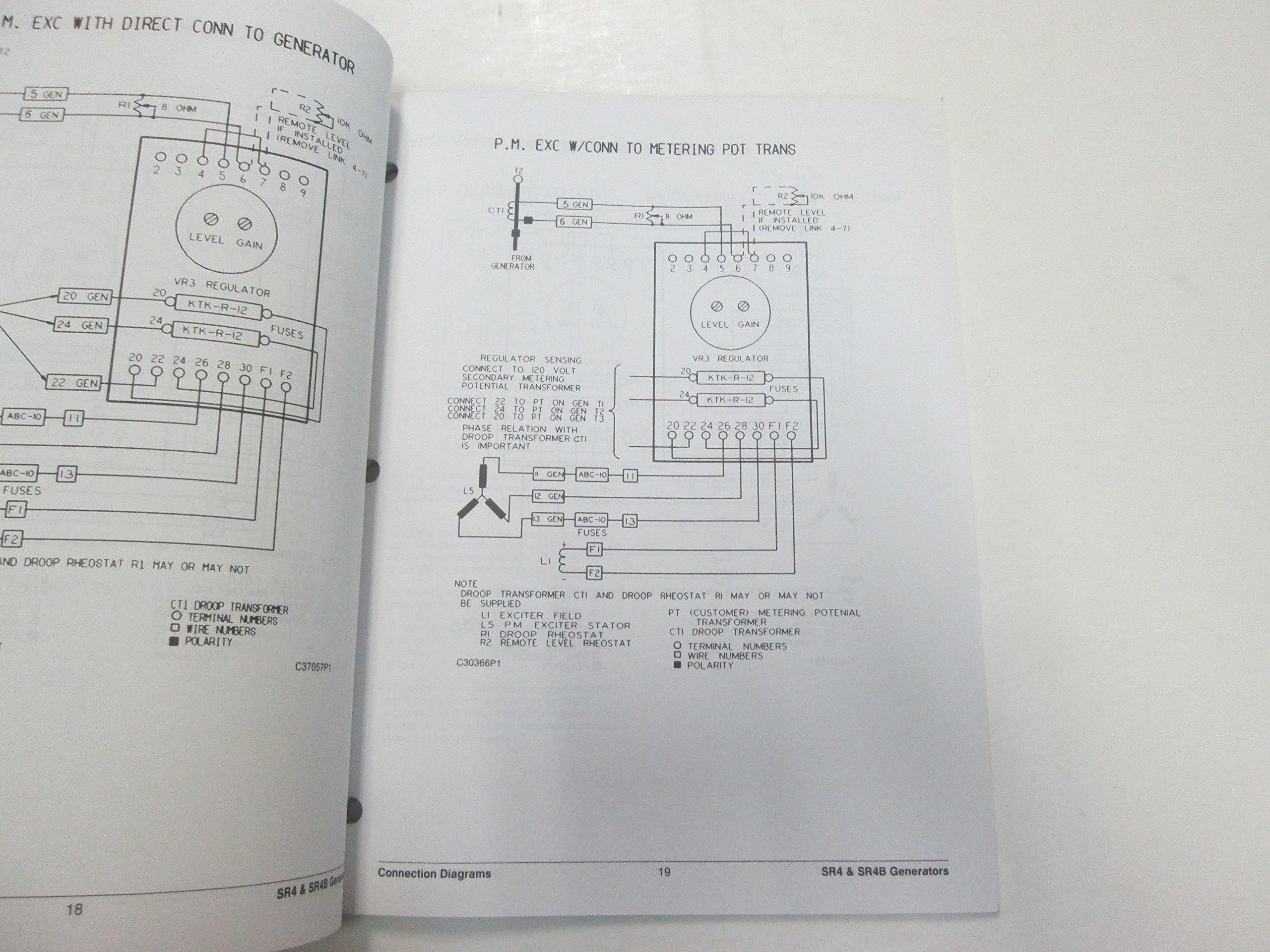Caterpillar Connection Diagrams SR4 SR4B Generators Voltage Schematic Manual  OEM: Caterpillar: Amazon.com: BooksAmazon.com