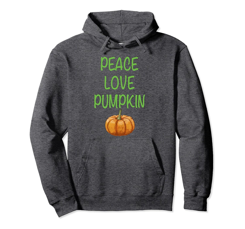 Peace Love Pumpkin Pullover Hoodie-ln