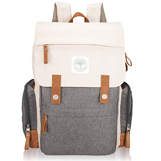 Baby On-The-Go Diaper Backpack by Huggleboo - Large Diaper Bag with Wipes Pocket, Stroller Straps, Changing Pad and Insulated Pockets - Waterproof Canvas - Unisex Design for Moms, Dads, Boys and Girls