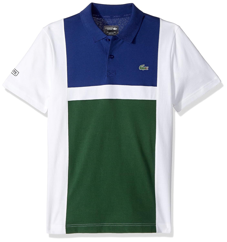 753ba01be0 Lacoste Men's Tennis Short Sleeve Super Light Color Block Polo,  White/Ocean/Green, Medium: Amazon.ca: Clothing & Accessories