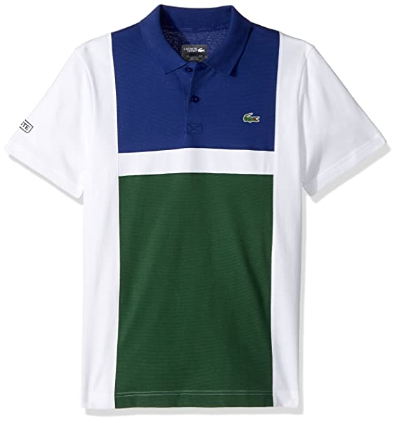 8c24f06c Lacoste Men's Tennis Short Sleeve Super Light Color Block Polo
