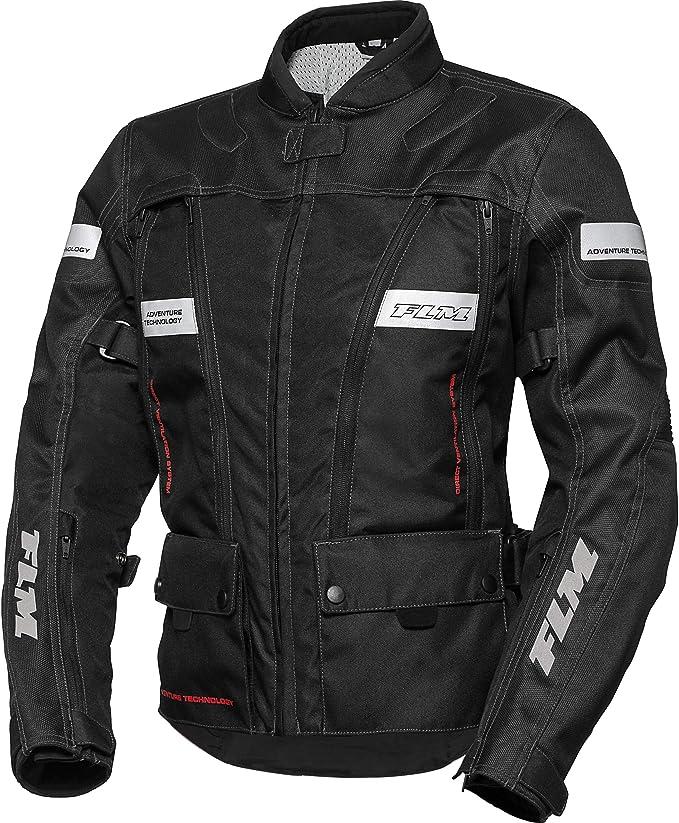 FLM Motorradjacke mit Protektoren Motorrad Jacke Sommerreise Damen Textiljacke 1.0, EnduroReiseenduro