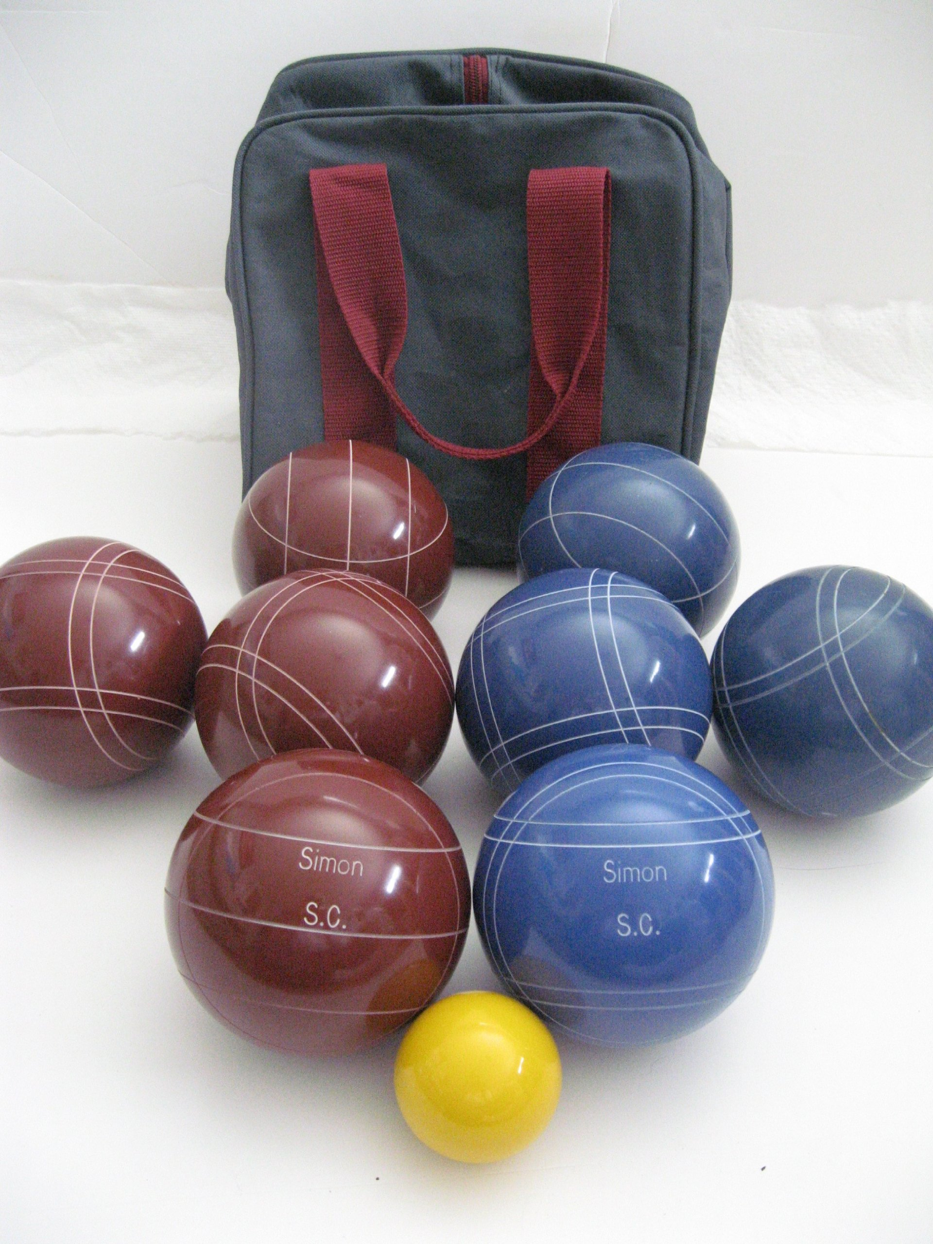 Premium Quality Engraved Bocce Package - 110mm Epco Red and Blue Balls with Engraving [Misc.] by Epco