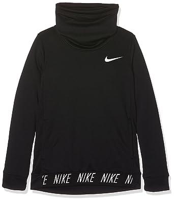 6f5318d74 Nike Dry Children's Sweatshirt, Black/White: Amazon.co.uk: Sports ...