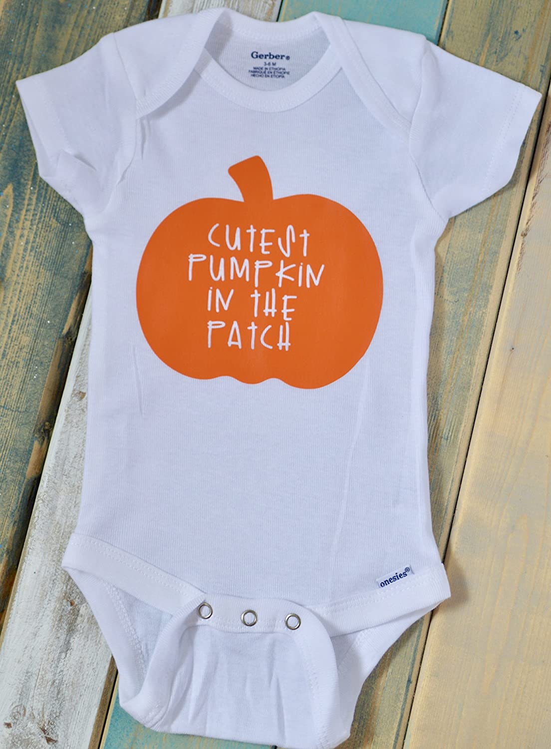 Cutest Pumpkin in the Patch ~ Thanksgiving ~ Personalized ~ Bodysuit or t-shirt