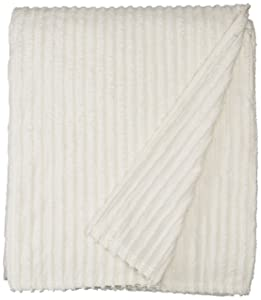 Beatrice Home Fashions Channel Chenille Bedspreads, Queen, Ivory