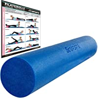 ScSPORTS® Yoga massage roller, Foam roller, Yoga roller, 90 x 15 cm, Diverse kleuren