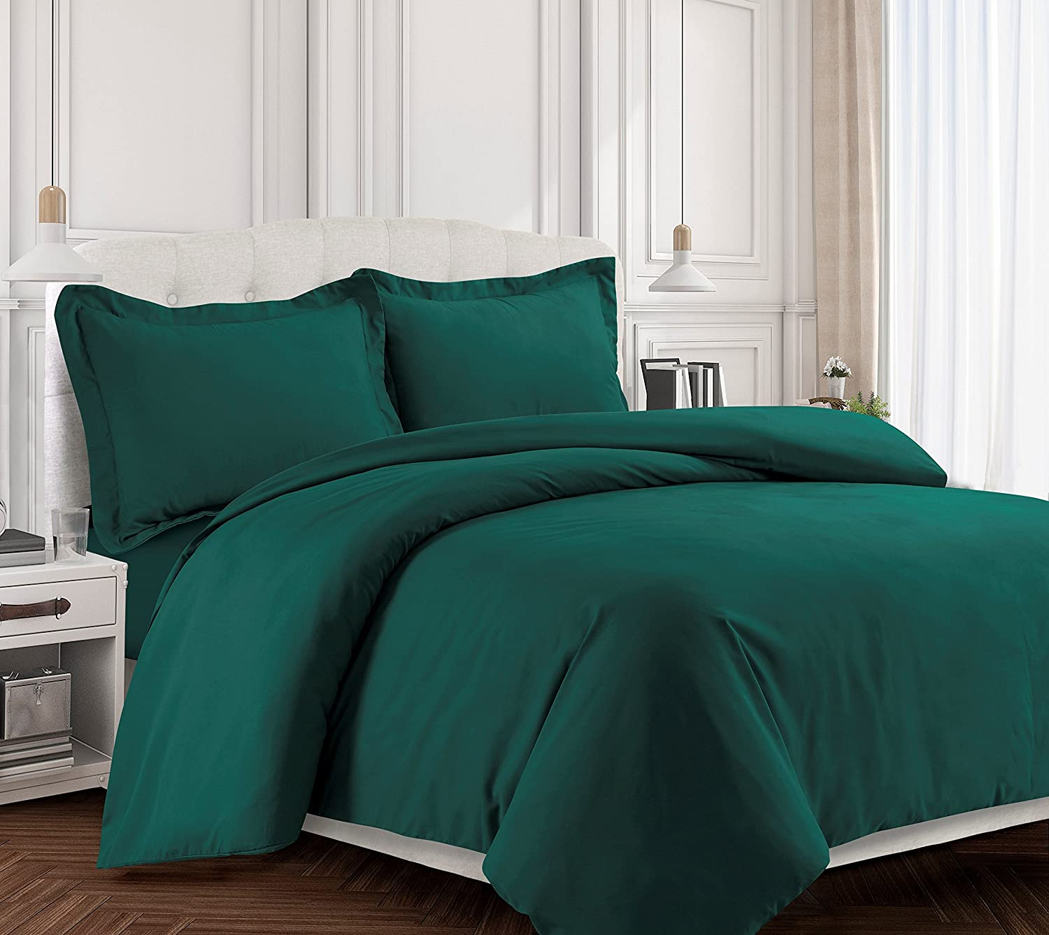 Amazon Tribeca Living VALENDUVETQUTE Valencia Solid Duvet Cover