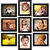 Ajanta Royal Classic Set of 9 Individual Photo Frames (9-8x10 Inch) : A-62A (Black)