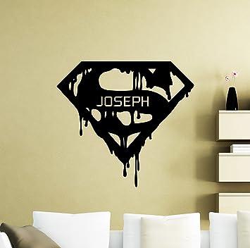 Superman Personalised sticker for children/'s bedroom walls//doors Batman