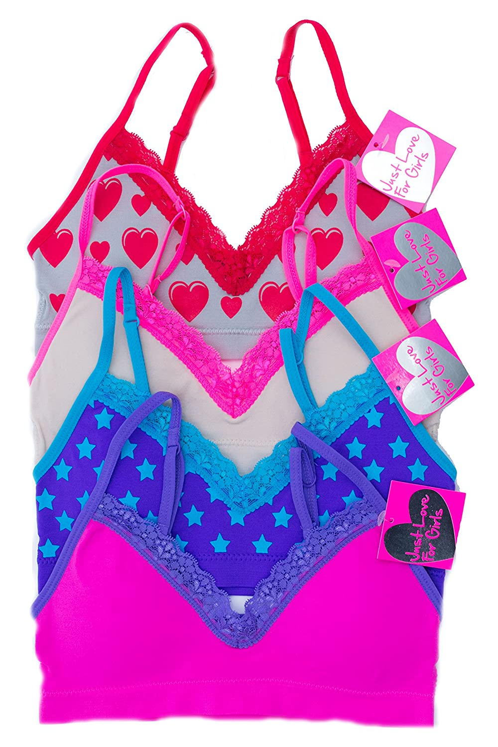 Just Love Girls Bras Pack of 4