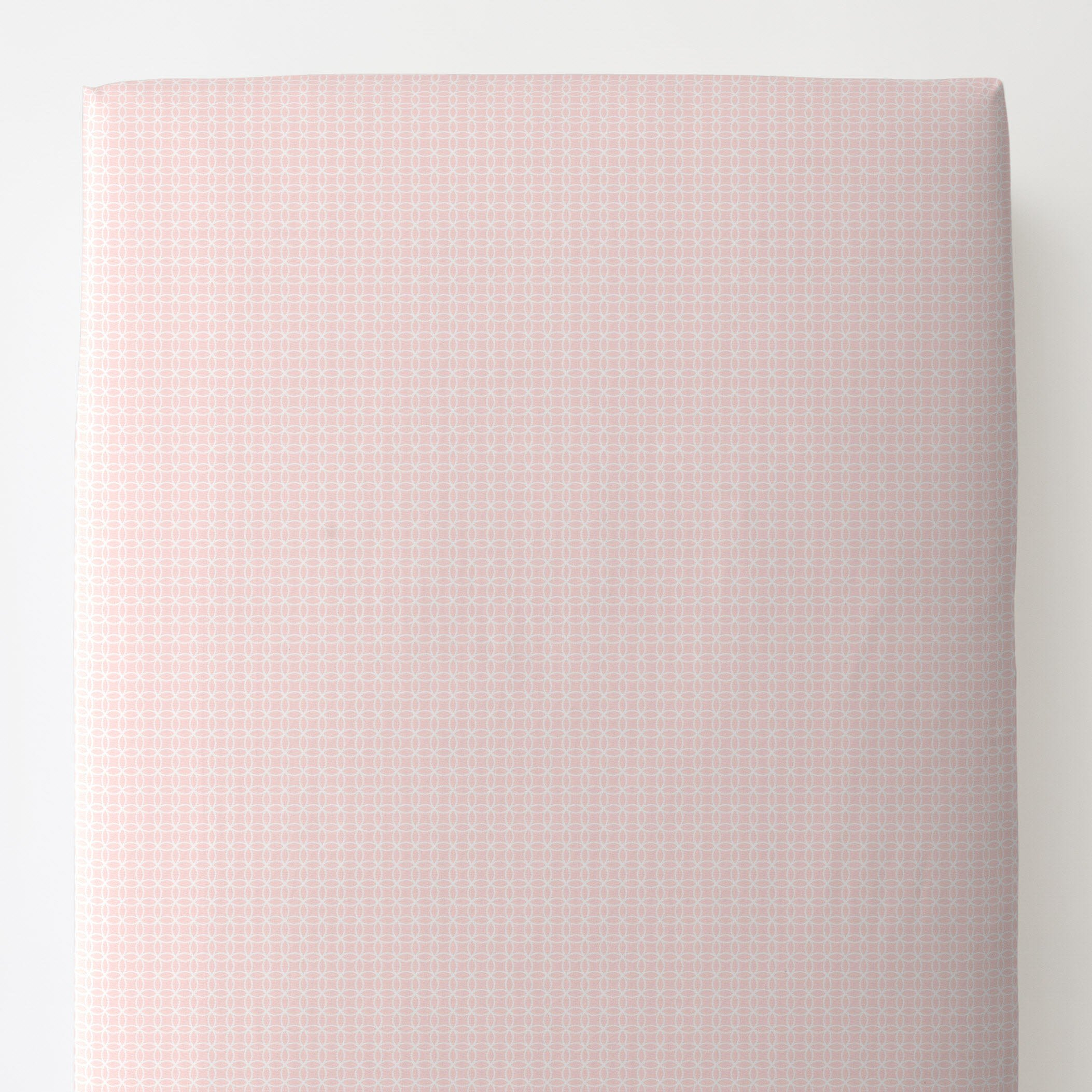 Carousel Designs Pink Circles Toddler Bed Sheet Fitted