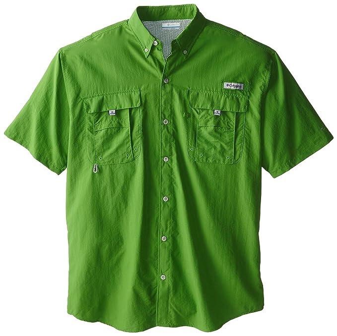 e0afe65ad4e Columbia Men's PFG Bahama II Short Sleeve Shirt, Clean Green, Large/Tall