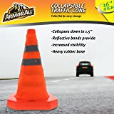 """Armor All 16"""" Traffic Safety Cone - Collapsible Pop Up – Reflective, Orange, Multipurpose"""