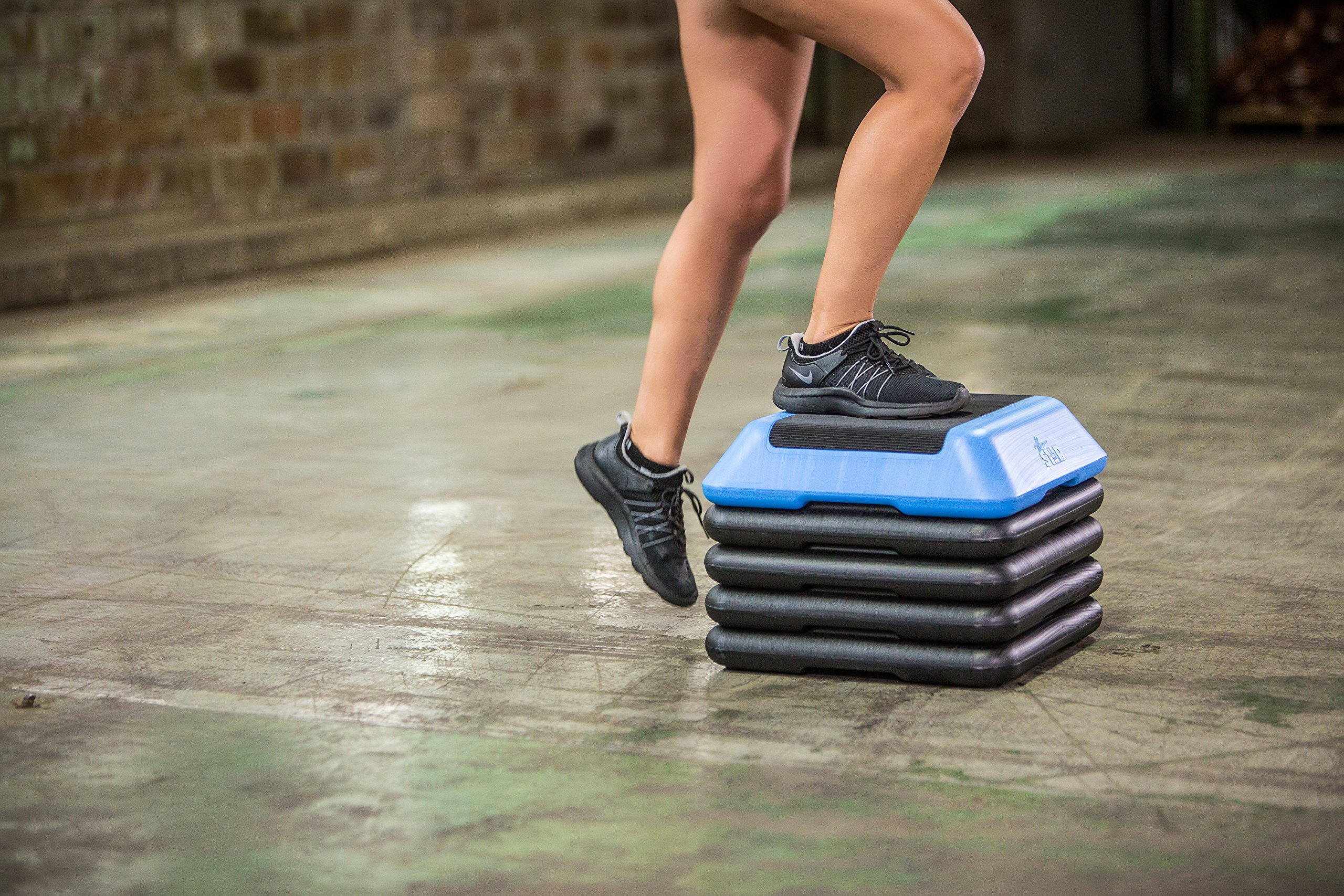 The Step High Step Aerobic Exercise Nonslip Platform Includes 4 Risers and Streaming Workout Videos by The Step (Image #7)