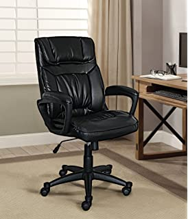 Serta Style Hannah I Office Chair, Bonded Leather, Black