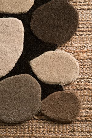 Amazon Com Nuloom Pebbles Hand Tufted Wool Accent Rug 2 X 3 Natural Furniture Decor