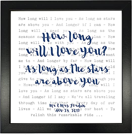 Ellie Goulding How Long Will I Love You Personalised Print VINYL RECORD Gift