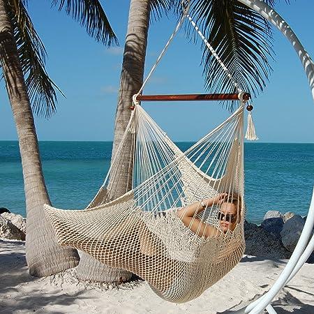 Caribbean Hammocks Large Chair – 48 Inch – Polyester – Hanging Chair – Cream