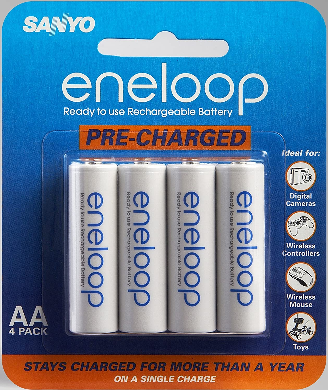 Sanyo Eneloop AA NiMH Pre-Charged baterías Recargables – 4 Unidades (descontinuado por Fabricante): SANYO: Amazon.es: Electrónica
