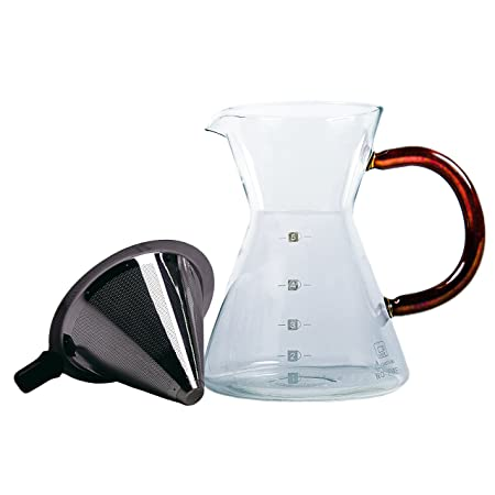 Cafetera con filtro de acero inoxidable * Café de 50g GRATIS ...